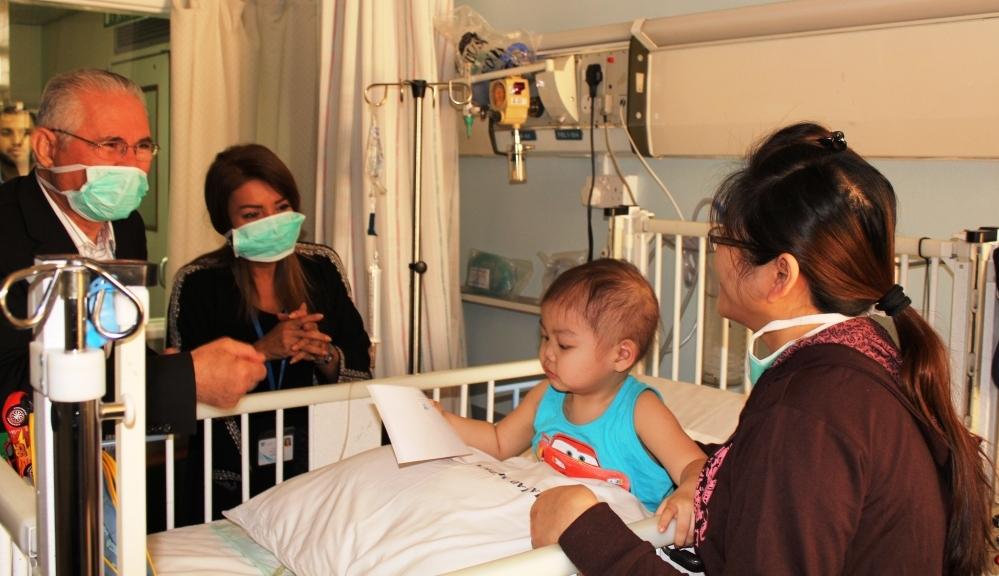 من زيارات أطفال مرضى السرطان